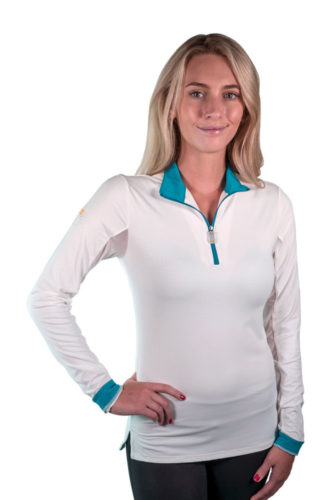 Charlotte Signature Collection White with Teal Trim