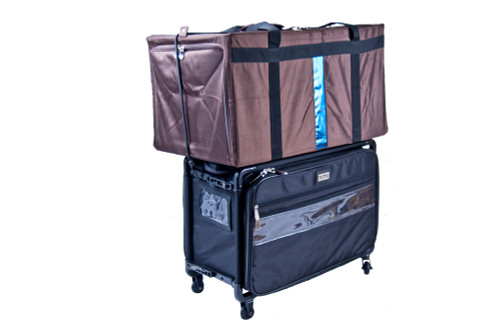 Stacks 150lbs to double as luggage cart