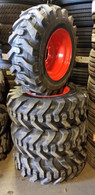 (4- Tires with Wheels) Case 465 75XT 85XT 90XT skid-steer with tire size 12-16.5 12165