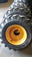 (4-Tires with Wheels) Case model 430 440 tire size 12-16.5 12 PR mounted 12165
