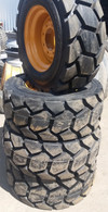 (4-Tires with Wheels) Mustang model 960 tire size 12-16.5 14 PR mounted 12165