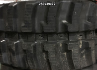 (2-Tracks) Case Rubber Track TF 300 RT TF300RT TF-300RT 250X39X72 2503972