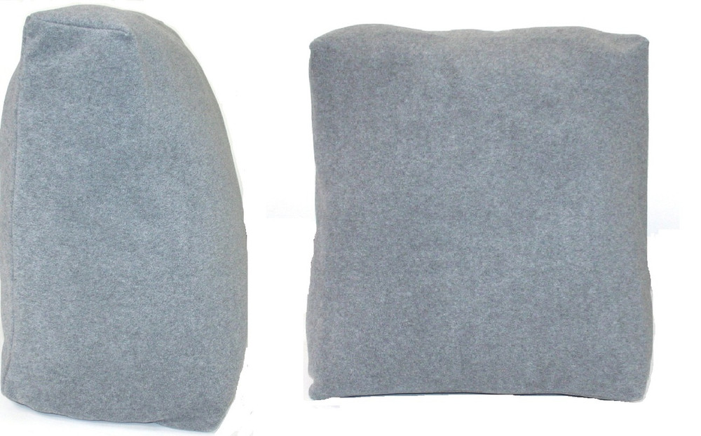 Grey Bed Reading Pillow Cushion 50cm wide Removable Cover - Pillows and Cushions