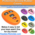 GM Keyless Remote Protective Silicone-Rubber Cover 4 Button
