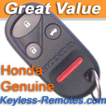Honda Accord Keyless Entry Remote Transmitter 4 Button Refurbished