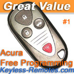 Acura TL TSX  Keyless Entry Remote Fob Memory #1. Refurbished