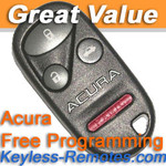Acura TL Keyless Entry Remote Refurbished - ACU5061_B