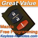 Mazda FlipKey Keyless Entry Remote. Mazda 5 CX-7 CX-9 Refurbished