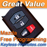 Mazda FlipKey Keyless Entry Remote. Mazda 6 RX-8 MX-5 Miata Refurbished