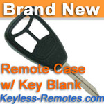 Keyless Entry Remote Key Replacement Case for 2004-2007 Dodge w/ Key Blank