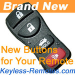 Nissan Four Button Replacement Buttons
