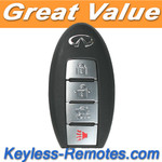 Infiniti Smart Key Keyless Entry Remote Transmitter w/ Uncut Key Blank KBRTN001 Refurbished