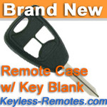 Keyless Entry Remote Key Replacement Case for 2004-2009 Dodge Chrysler Jeep w/ Key Blank