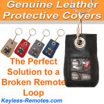 SMALL Genuine Leather Remote Cover