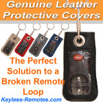 Genuine Leather Remote Covers for Chrysler Remotes