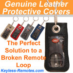 Genuine Leather Remote Covers for GM Remotes