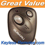 Subaru Keyless Entry Remote. 2 Button (Black) Refurbished