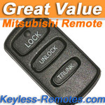 Used or Refurbished Mitsubishi Galant, Eclipse, Lancer Remote (w/o Alarm)