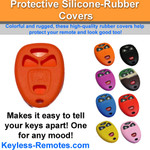 Silicone Rubber Cover for GM Remotes - 4 button with remote start