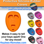Silicone Rubber Remote Cover for 3-button GM remotes