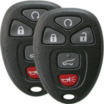 2 Keyless Entry Key Remote Fobs for GM, Chevrolet, and GMC 15913415 with Remote Start and Rear Hatch Button