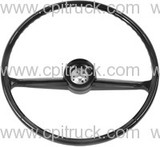 STEERING WHEEL BLACK CHEVROLET GMC TRUCK 1960 - 1966