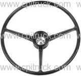 STEERING WHEEL BLACK CHEVROLET GMC TRUCK 1967 1968
