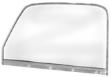 DOOR WINDOW GLASS CHROME LH CHEVROLET GMC TRUCK 1947 - 1950