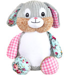 Cubbie Embroidered Harlequin Bunny