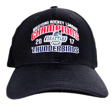 WHL CHAMPIONS FLEX FIT HAT BLACK