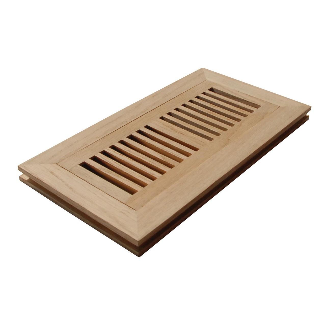 Naiture flush mount wood floor grille for Wood floor registers 6 x 14