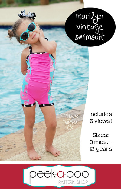 Marilyn Vintage Swimsuit Sewing Pattern