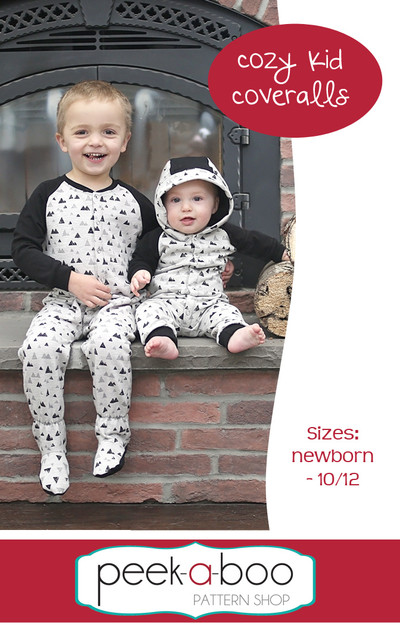 Cozy Kid Coveralls sewing pattern