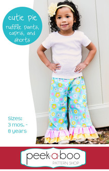 Cutie Pie Ruffle Pants, Capris, and Shorts