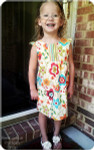 Girls Flutter Sleeve Dress Sewing Pattern