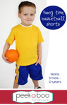 Hang Time Basketball Shorts PDF Sewing Pattern
