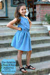 Girls One Shoulder Dress PDF Sewing Pattern