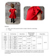 Kaylee Party Dress Size Chart & Materials List