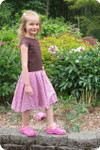 Girls Dress with Petal Sleeves