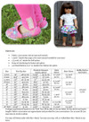 Lollipop Leggings Size Chart & Materials List