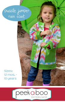 Puddle Jumper Rain Coat PDF Sewing Pattern