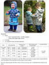 Puddle Jumper Rain Coat Sizing Chart