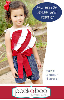 Sea Breeze Dress and Romper PDF Sewing Pattern