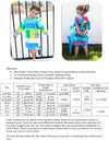 Swim Cover-Up Materials and Size Chart