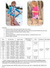 Cabana Swim Bottoms Size Chart & Materials List