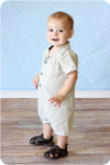 Baby Romper Sewing Pattern: Shorts, Standard Sleeves and Collar