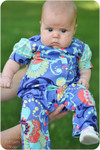 Baby Romper Sewing Pattern: Shorts, Puff Sleeves and Standard Neckline