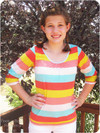 Juniors t-shirt sewing pattern