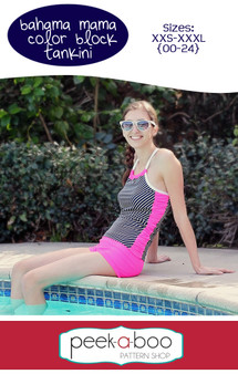 Bahama Mama Colorblock Tankini Top Sewing Pattern
