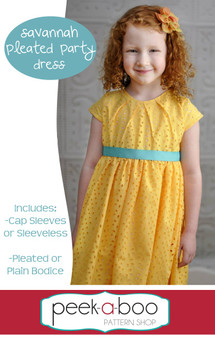 Savannah Pleated Party Dress